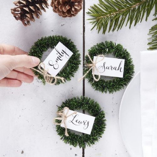 Wreath Name Place Cards 4pk